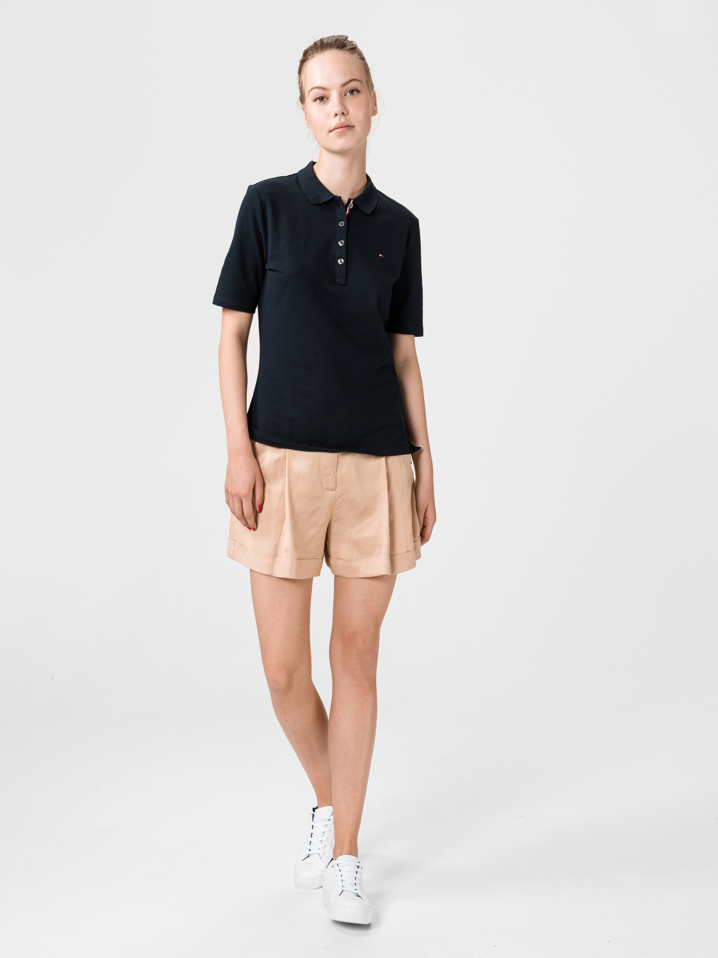 Tommy Hilfiger blu da donna maglietta Essential Polo