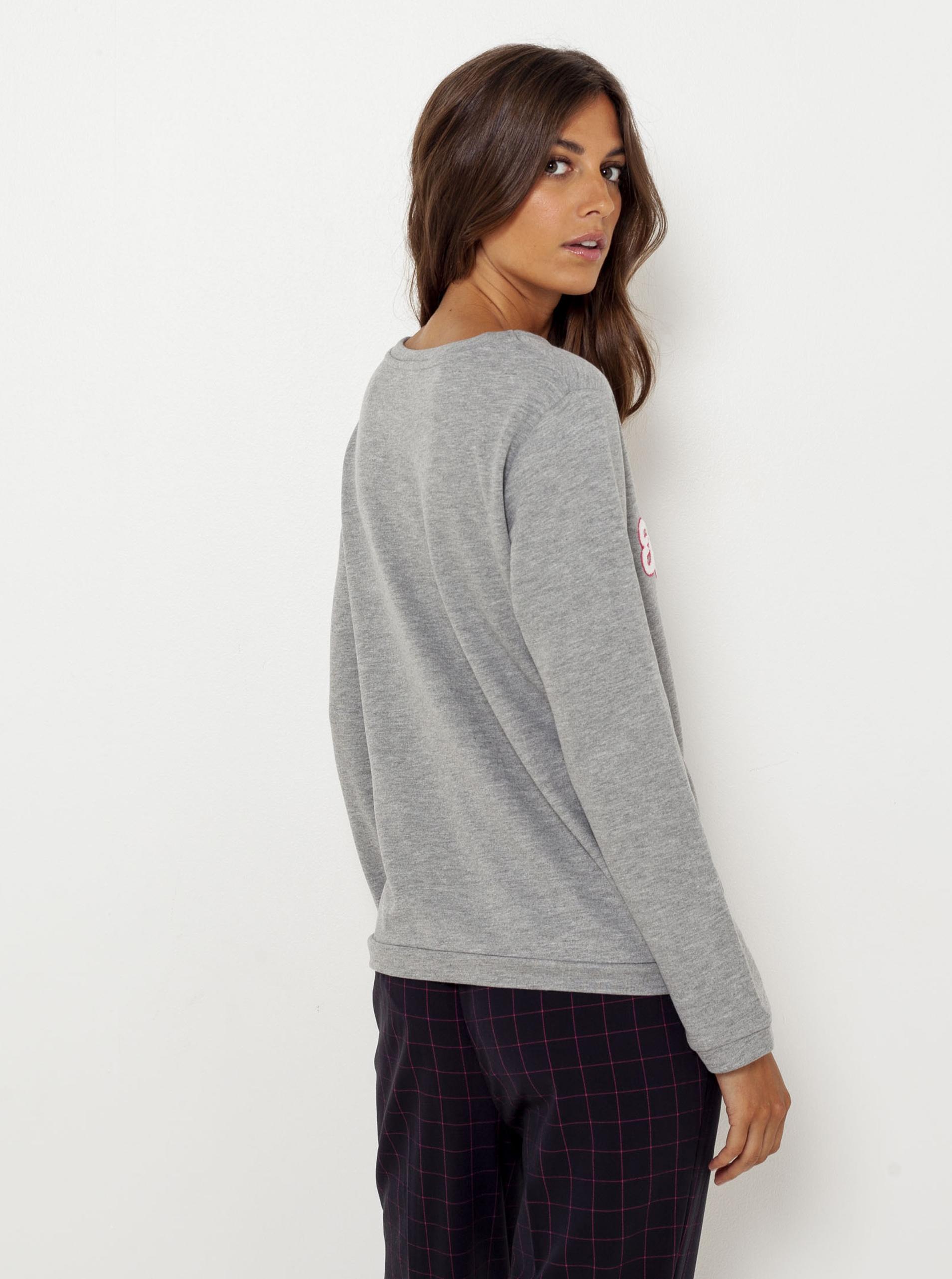 CAMAIEU grigio da donna maglietta con un segno