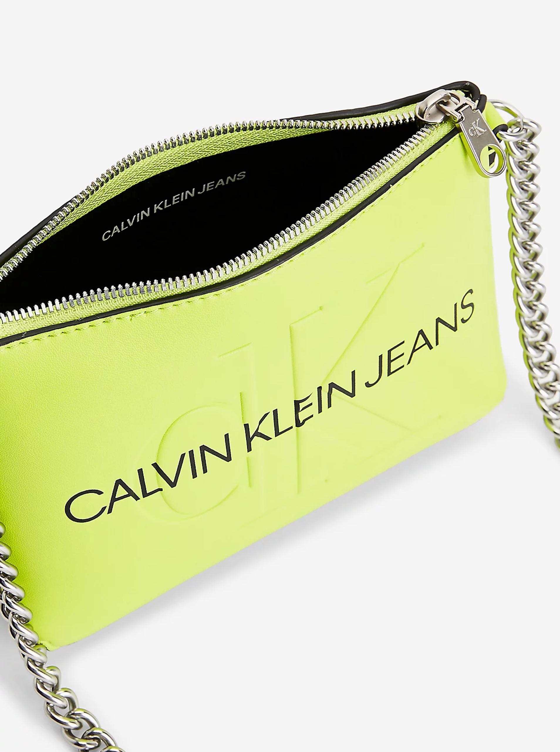 Calvin Klein verde crossbody borsetta