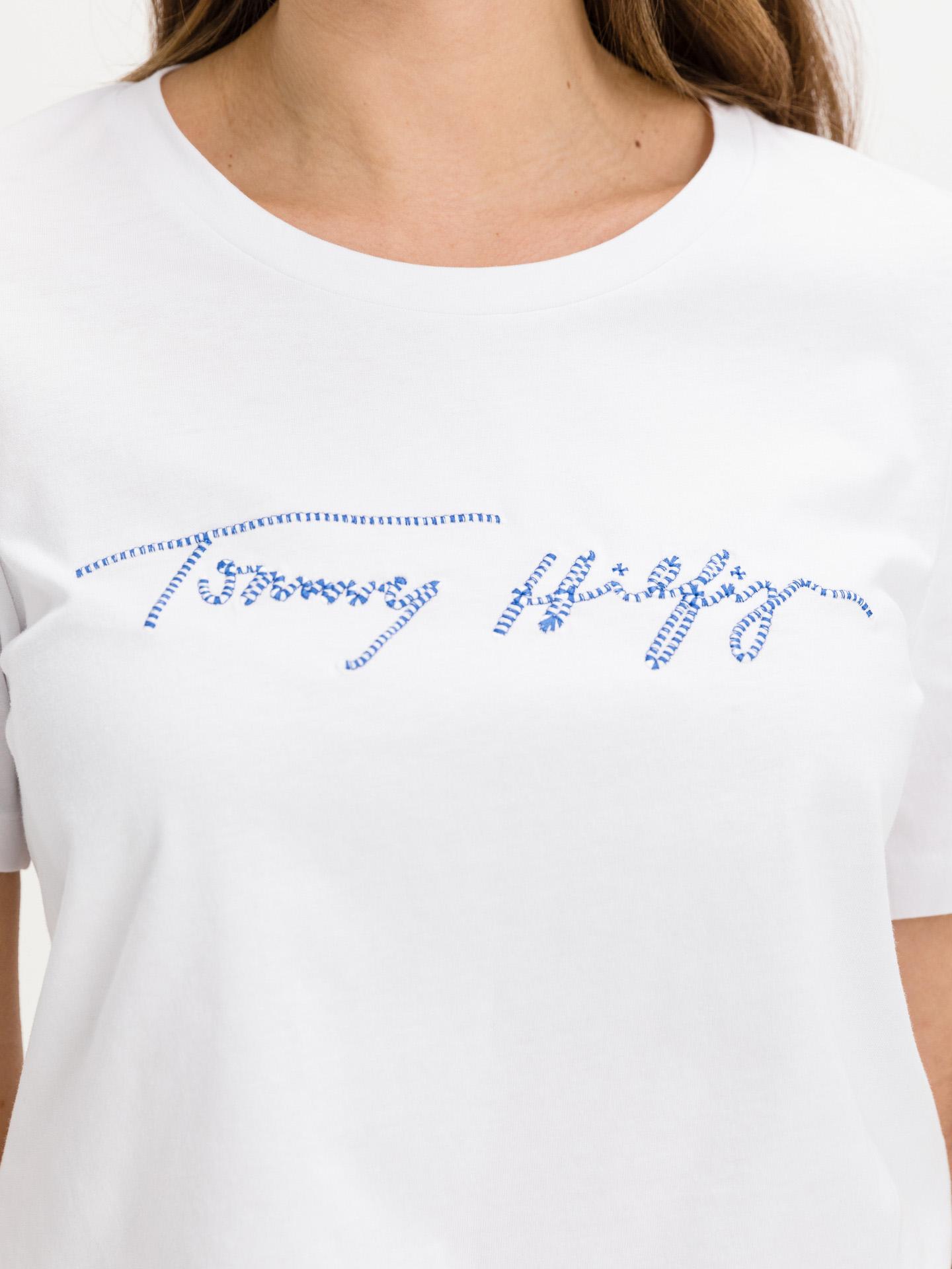Tommy Hilfiger bianco da donna maglietta