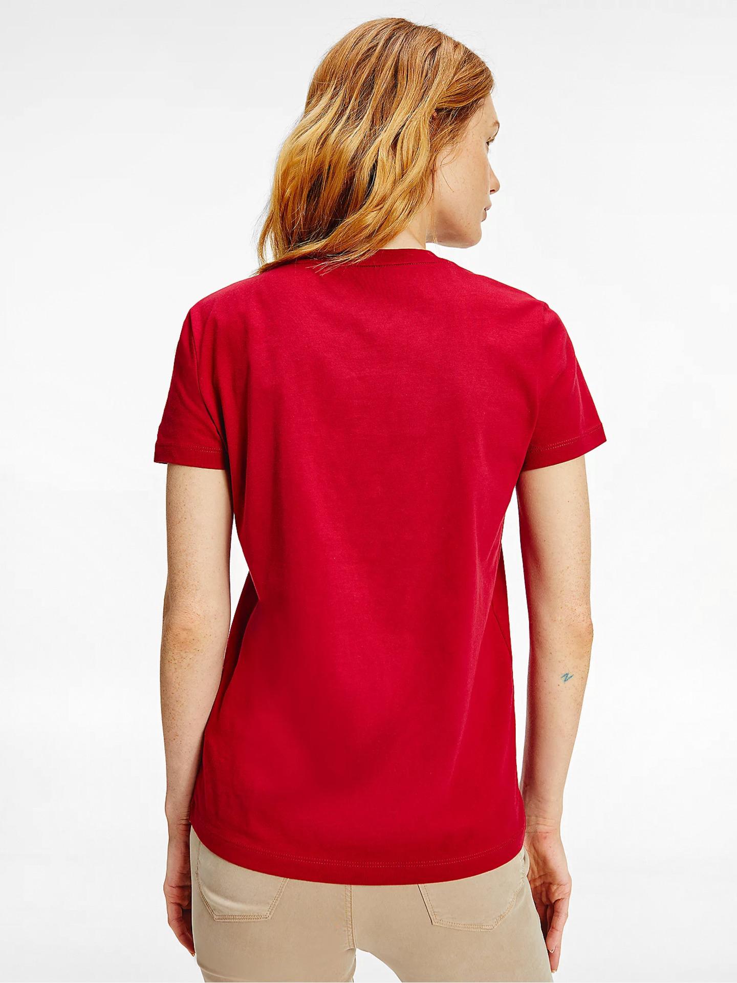 Tommy Hilfiger rosso da donna maglietta