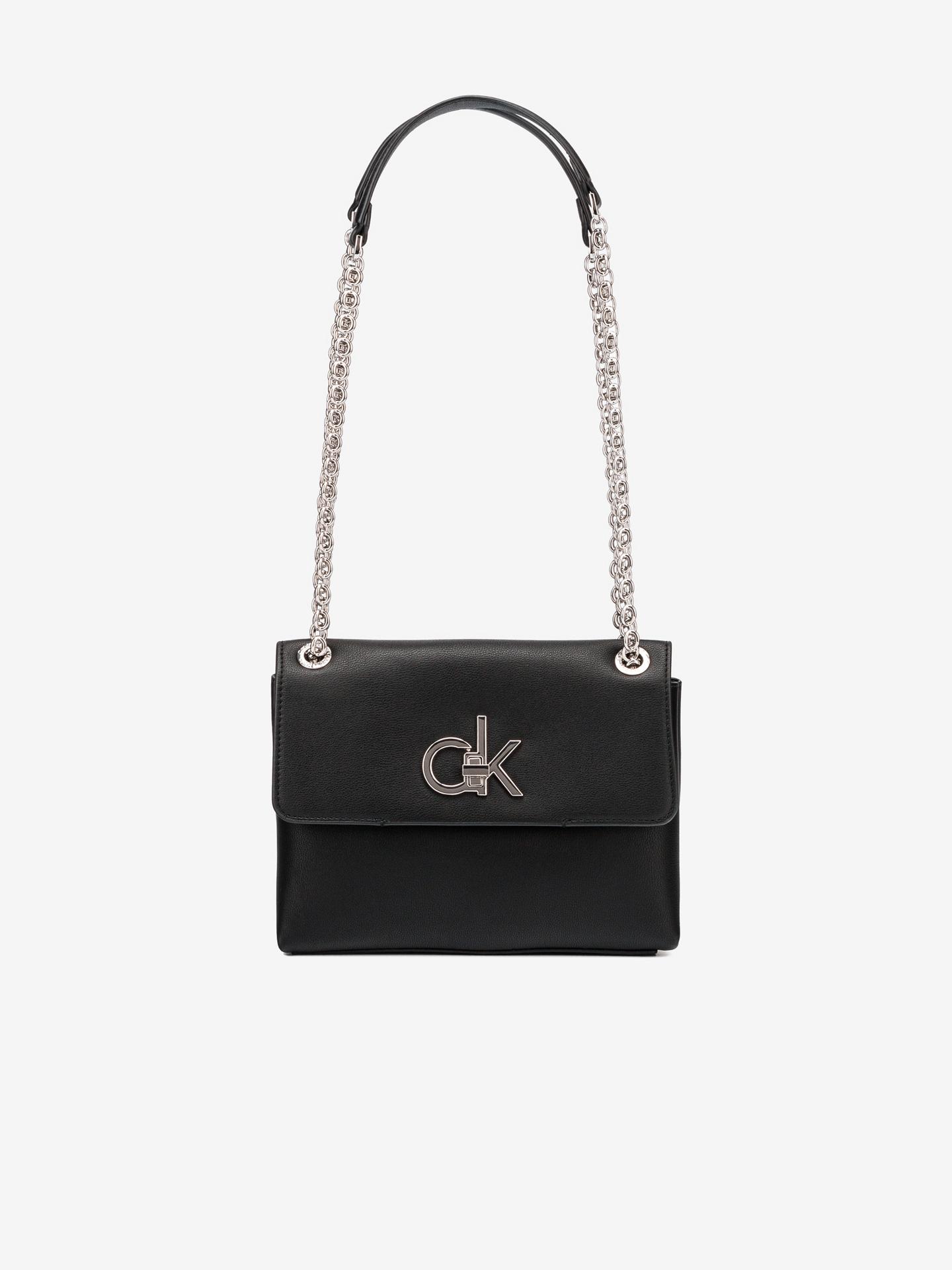 Calvin Klein nero crossbody borsa Ew Conv Flap