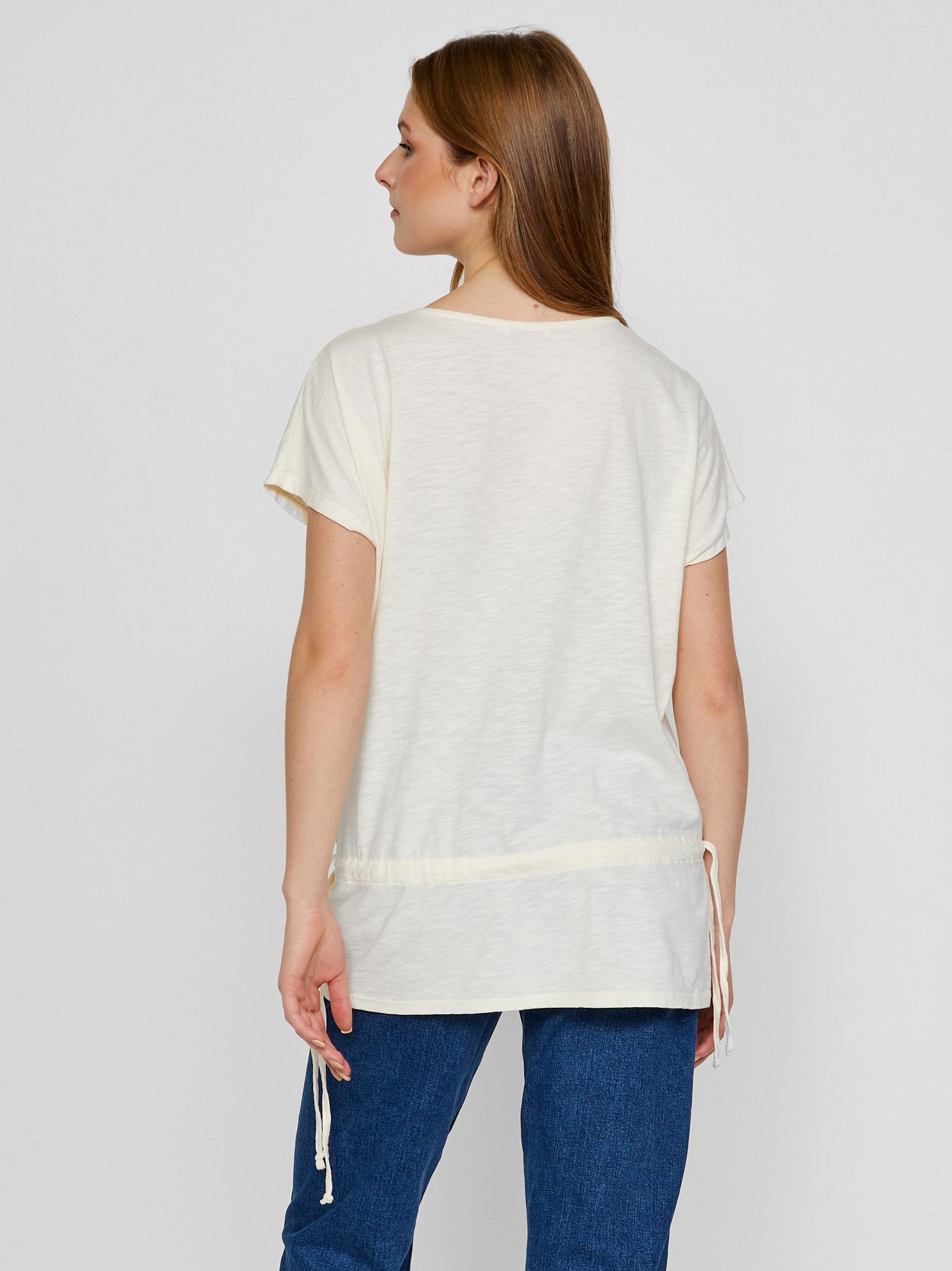CAMAIEU bianco maglietta con pizzo