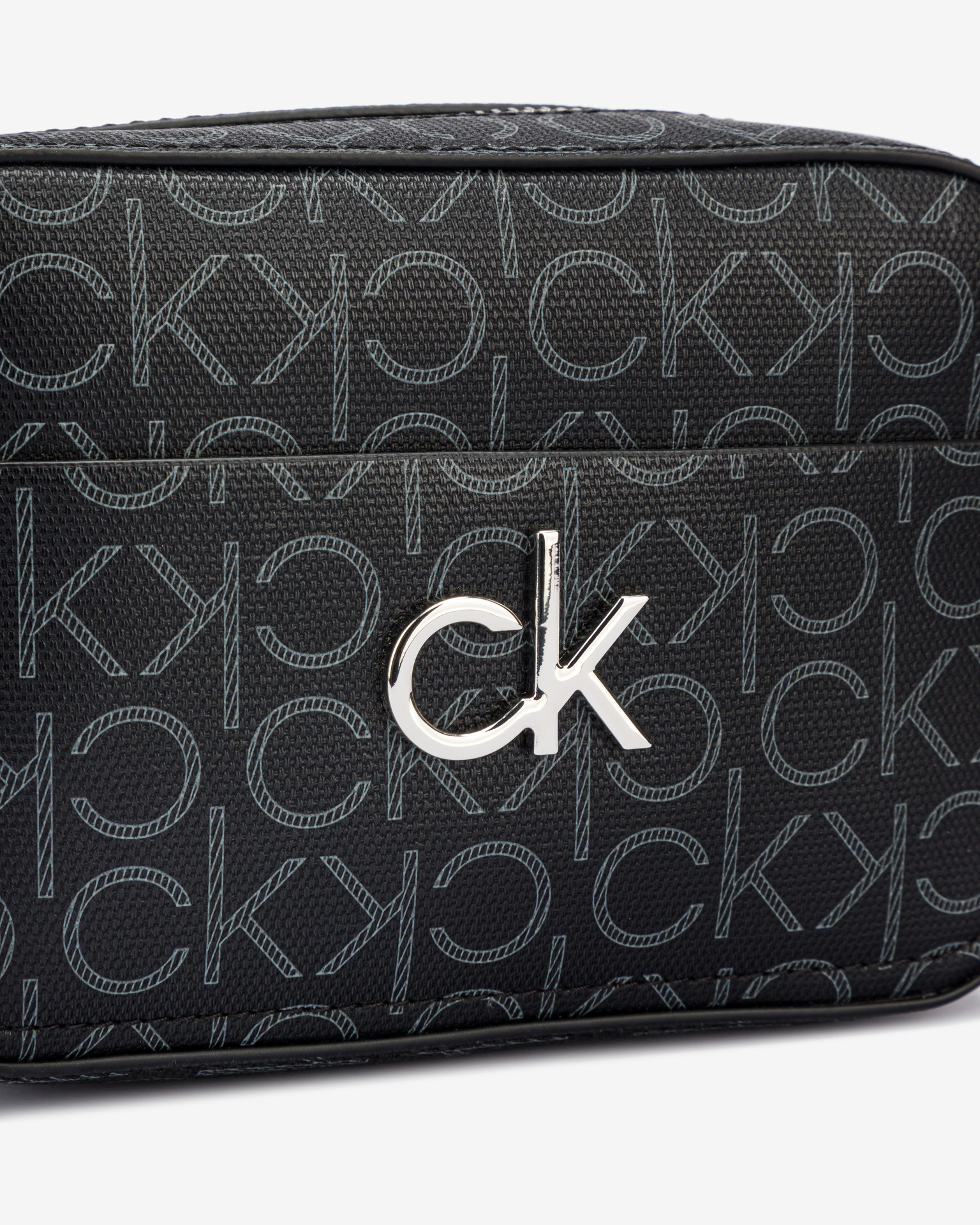 Calvin Klein nero crossbody borsa Camera Monogram