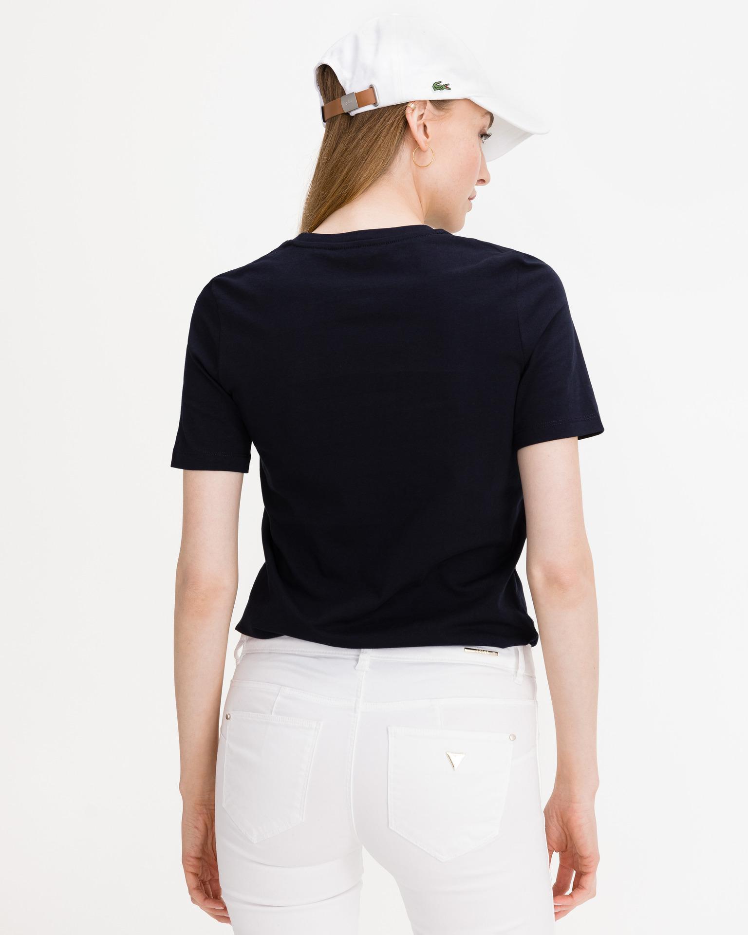 Tommy Hilfiger nero da donna maglietta Round Logo