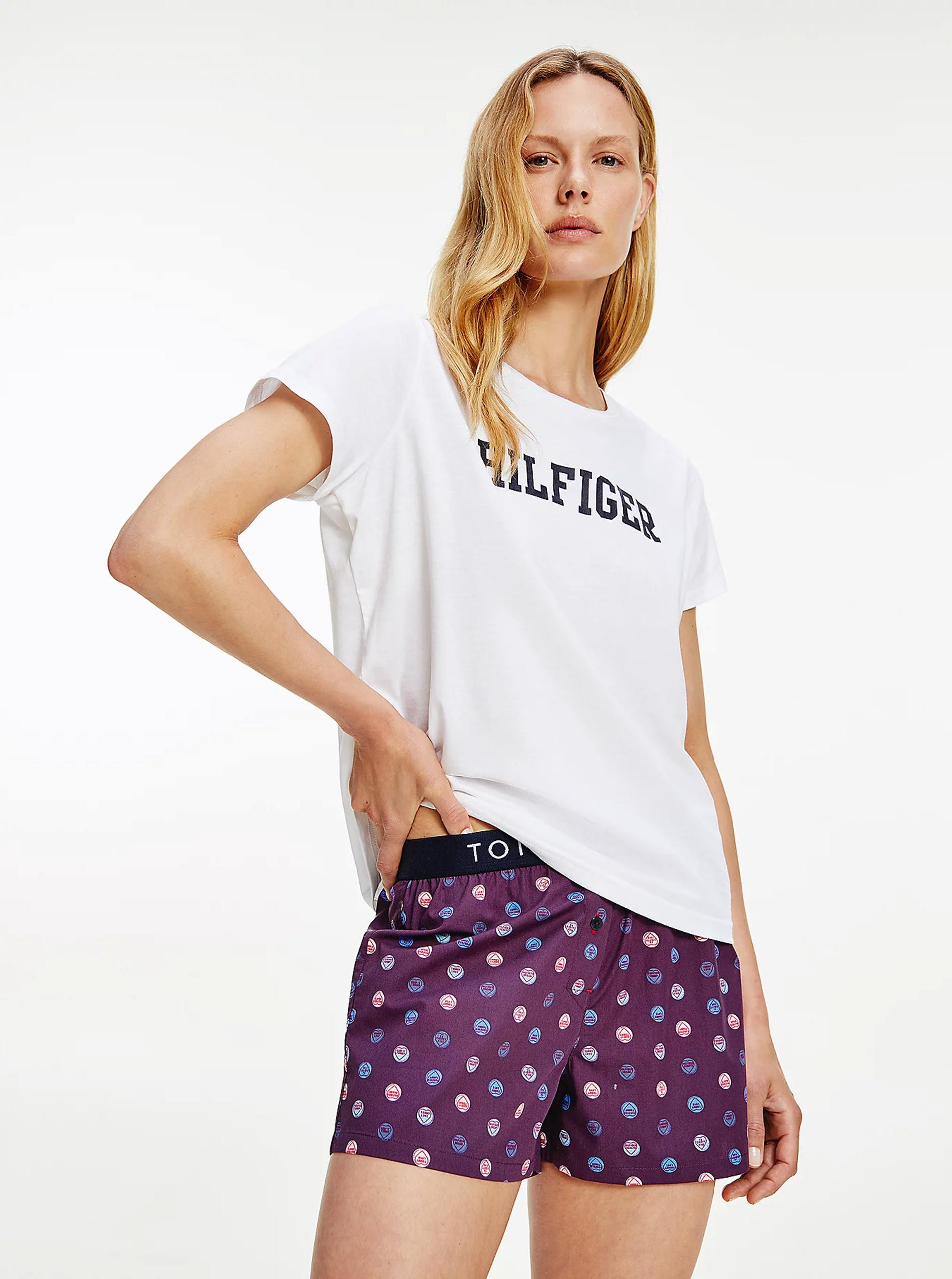 Tommy Hilfiger bianco maglietta con logo