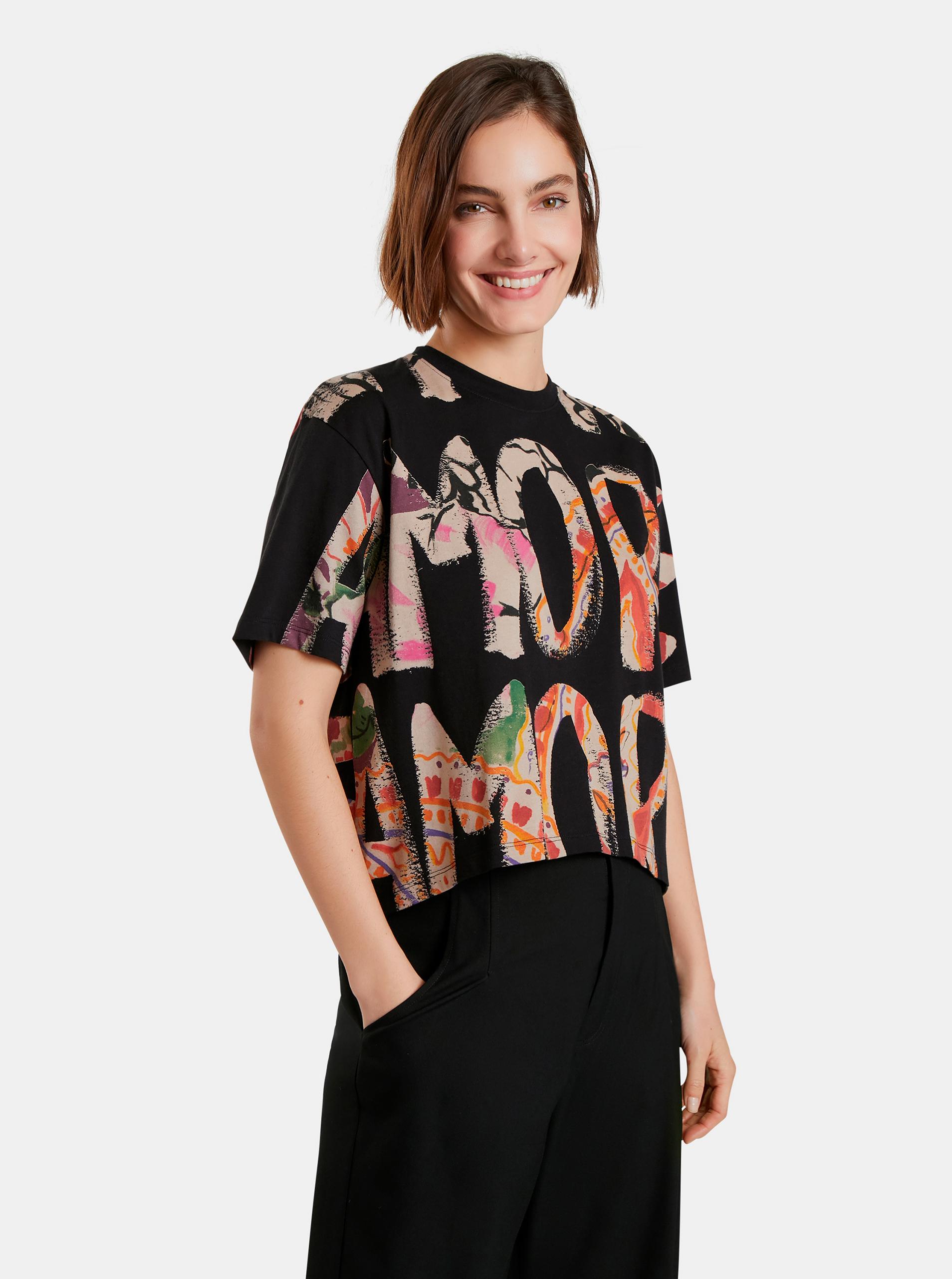 Desigual Maglietta donna nero Camelia