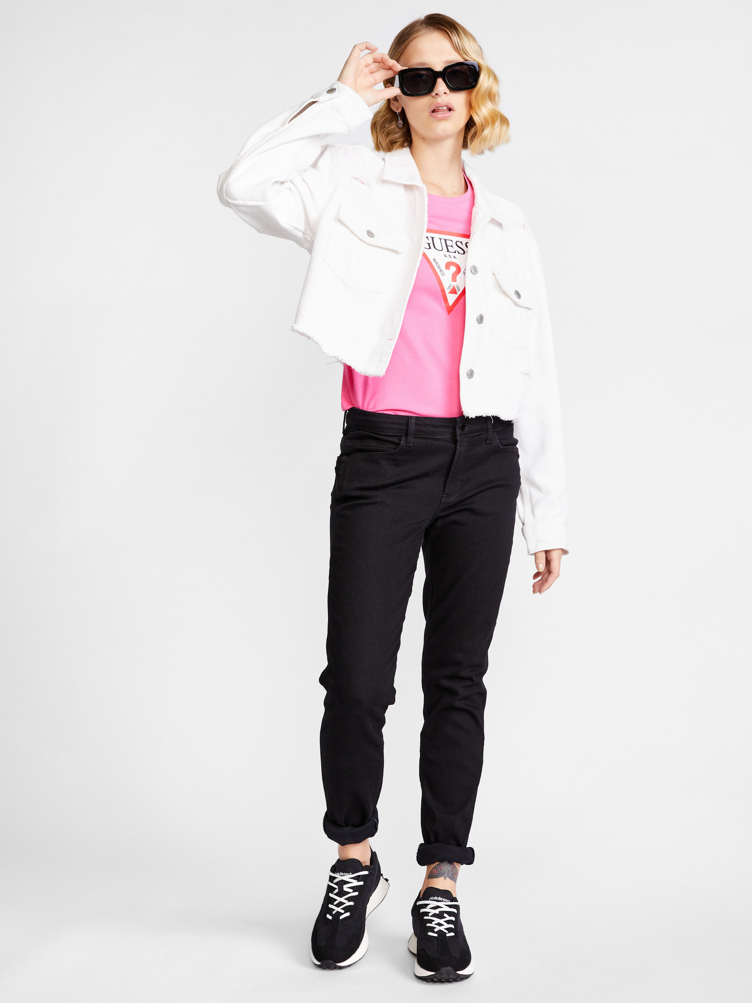 Guess Maglietta donna rosa Triko