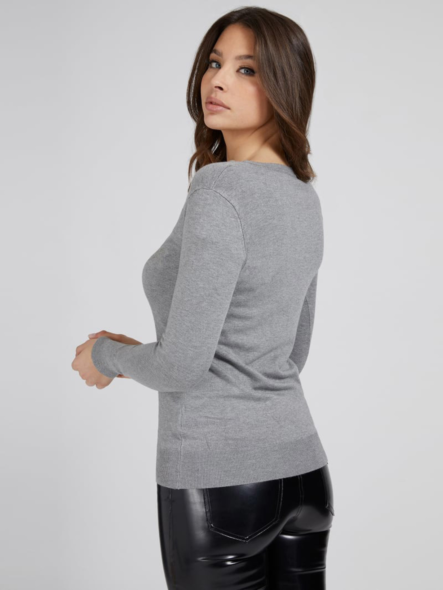 Guess Maglietta donna grigio Triko