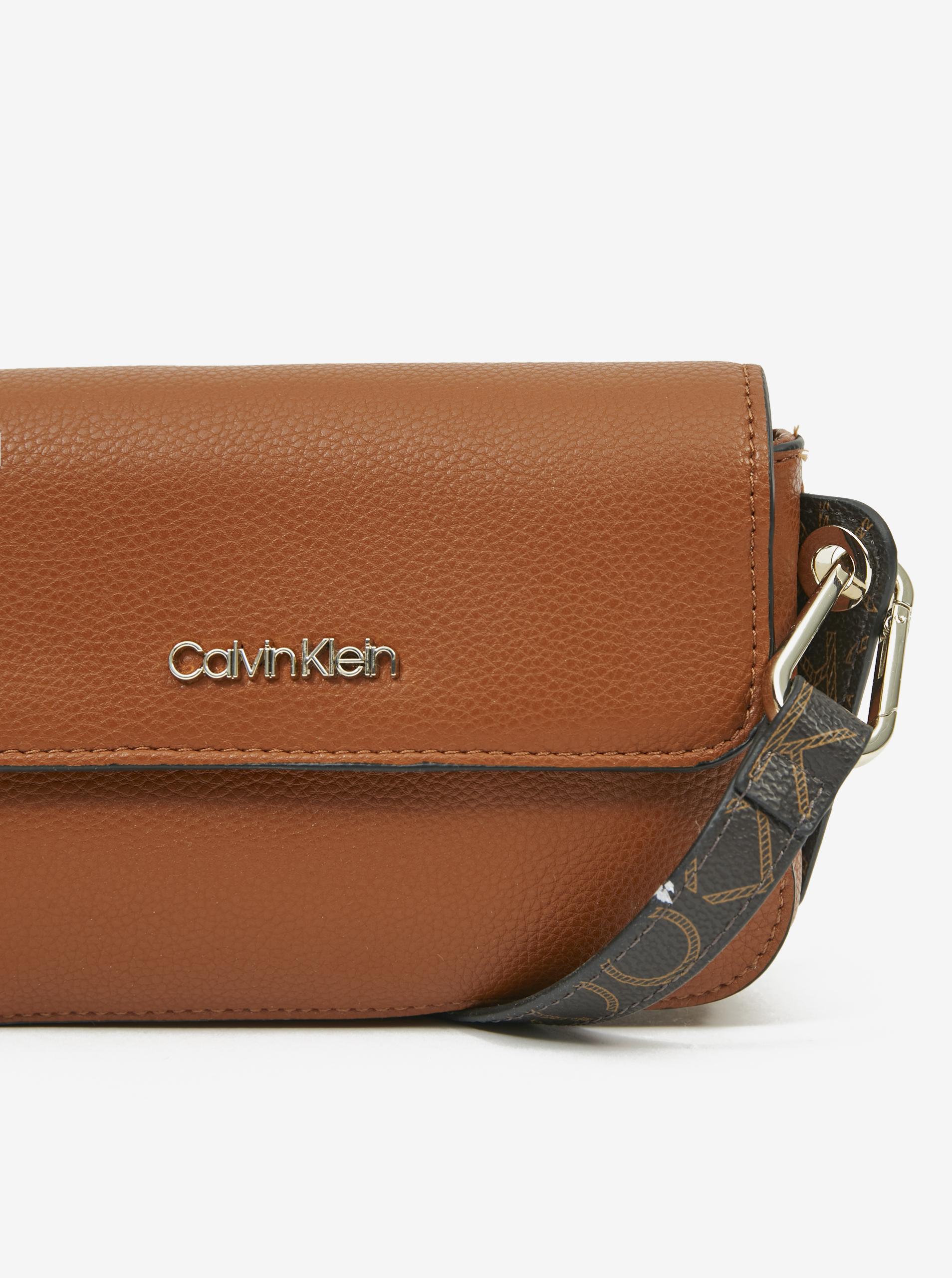 Calvin Klein marrone crossbody borsetta