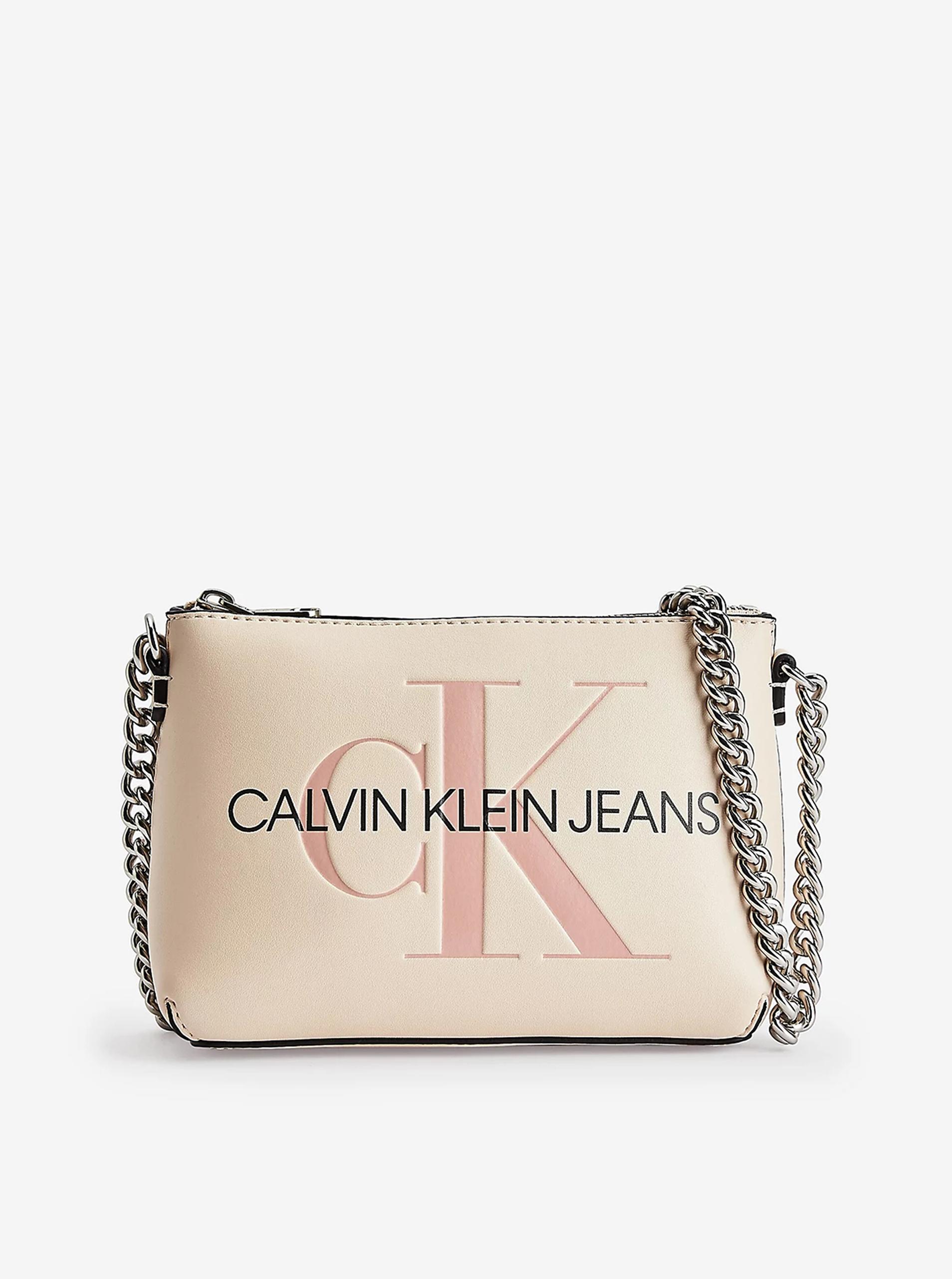 Calvin Klein crema crossbody borsetta