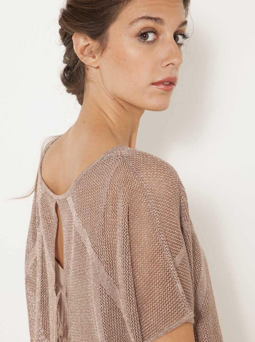 CAMAIEU Maglietta donna rosa antico