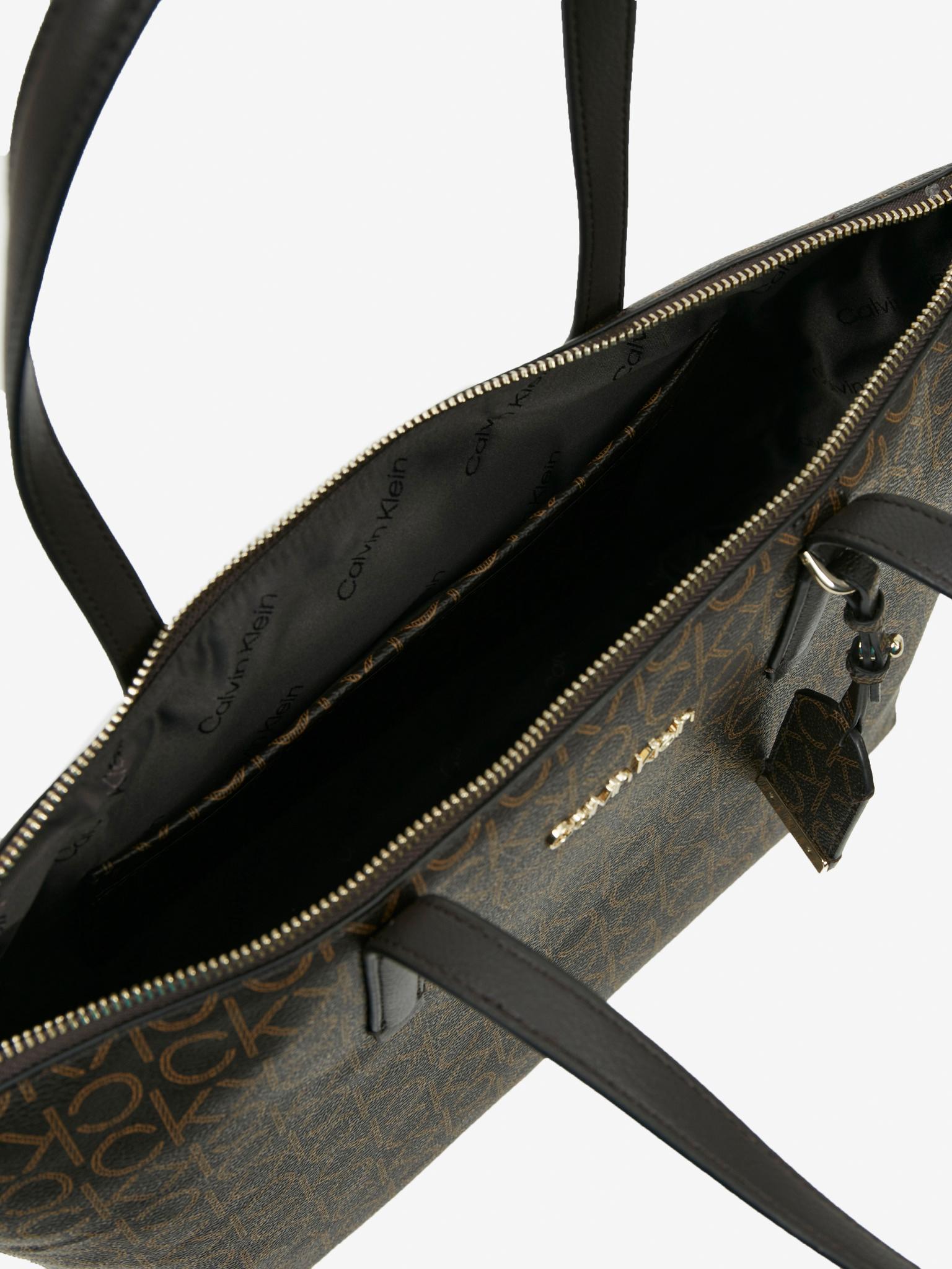 Calvin Klein marrone borsetta Must Shopper Medium