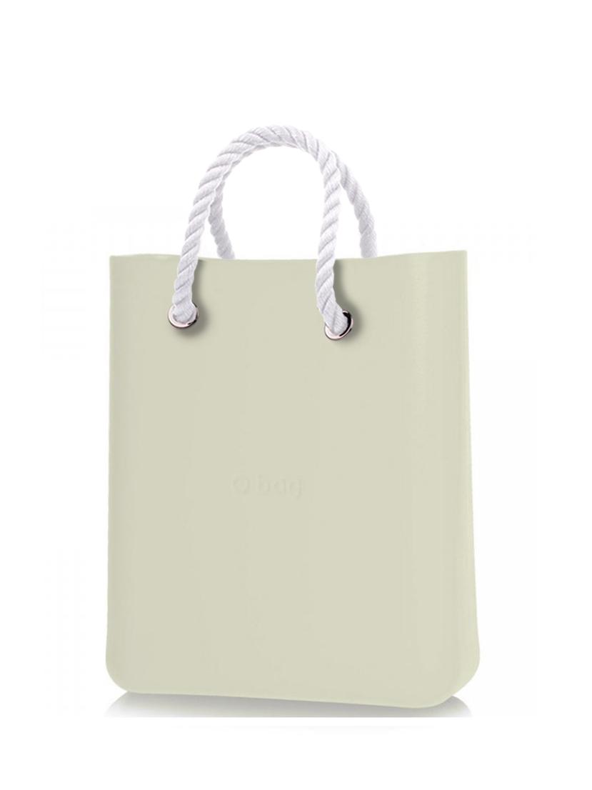 O bag  O Chic borsetta Ivory con corde corte bianco