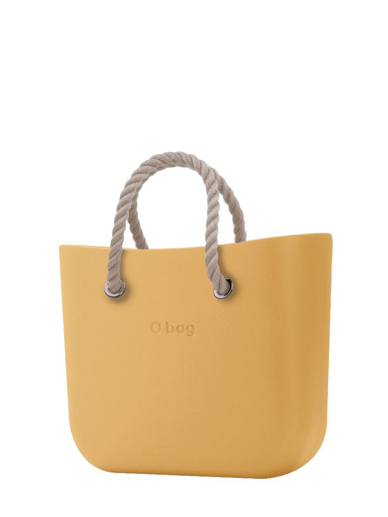 O bag  borsetta Caramello con corde corte natural