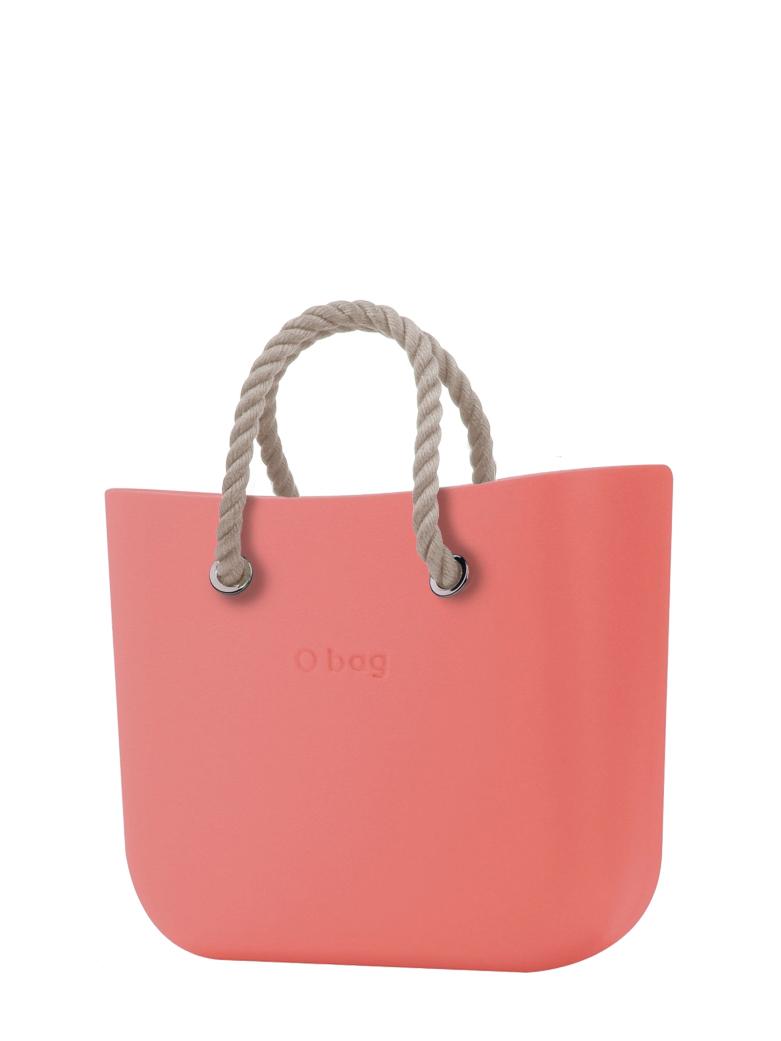 O bag  borsetta MINI Corallo con corde corte natural