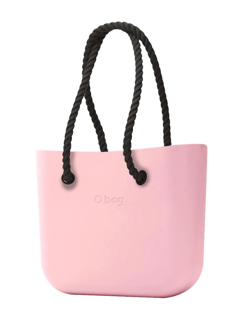 O bag  borsetta Cipria con corde lunghe nero