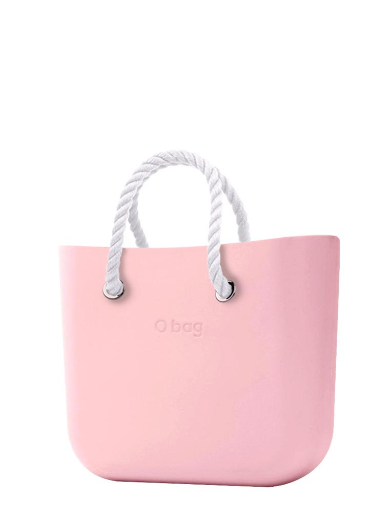 O bag  borsetta Cipria con corde corte bianco