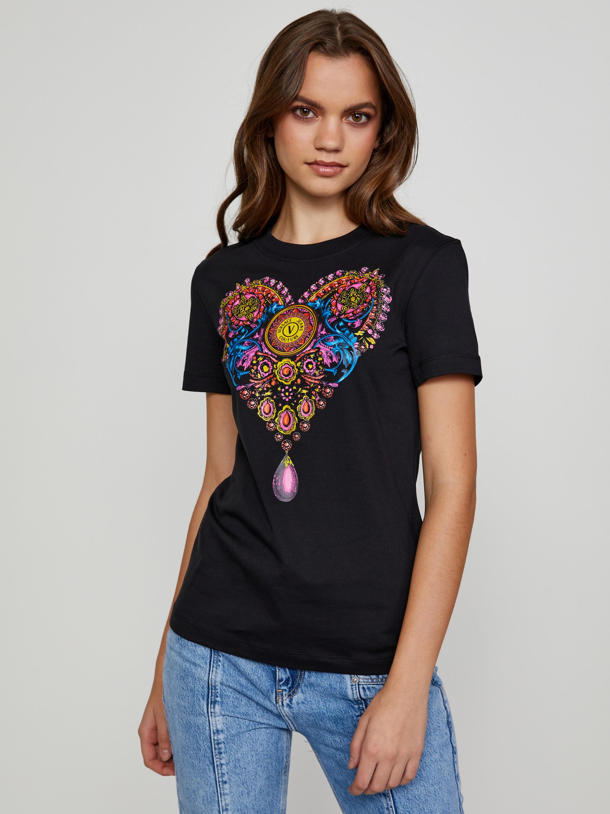 Versace Jeans Couture Maglietta donna nero  S