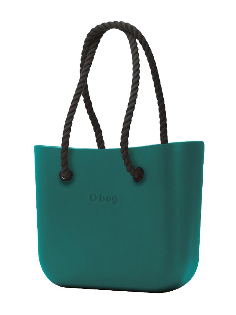 O bag  borsetta MINI Petrolio con corde lunghe nero