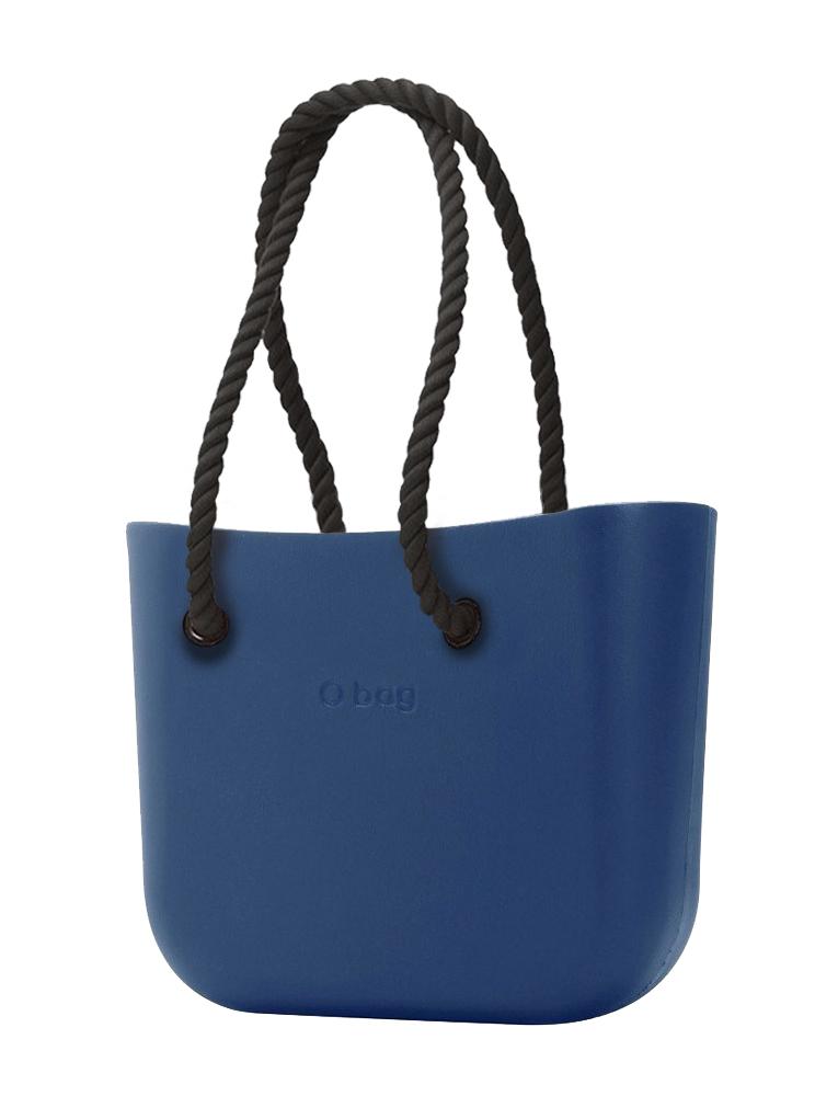 O bag  blu borsetta MINI Bluette con corde lunghe nero