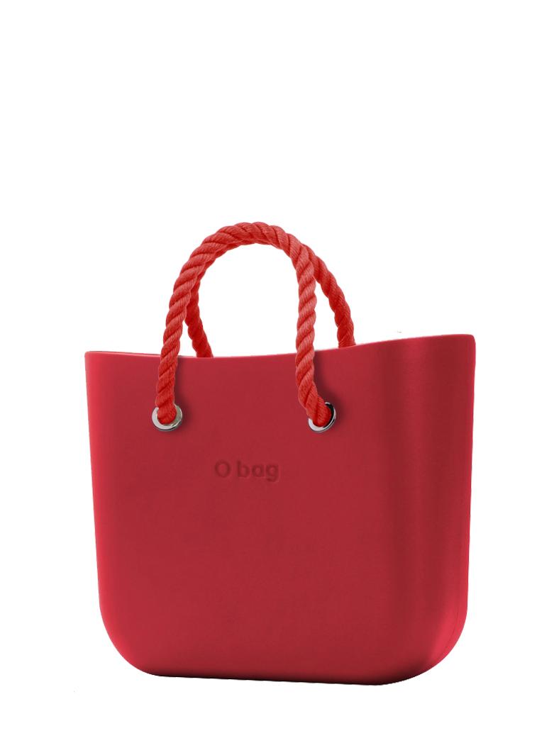 O bag  borsetta Rosso con corde corte rosso