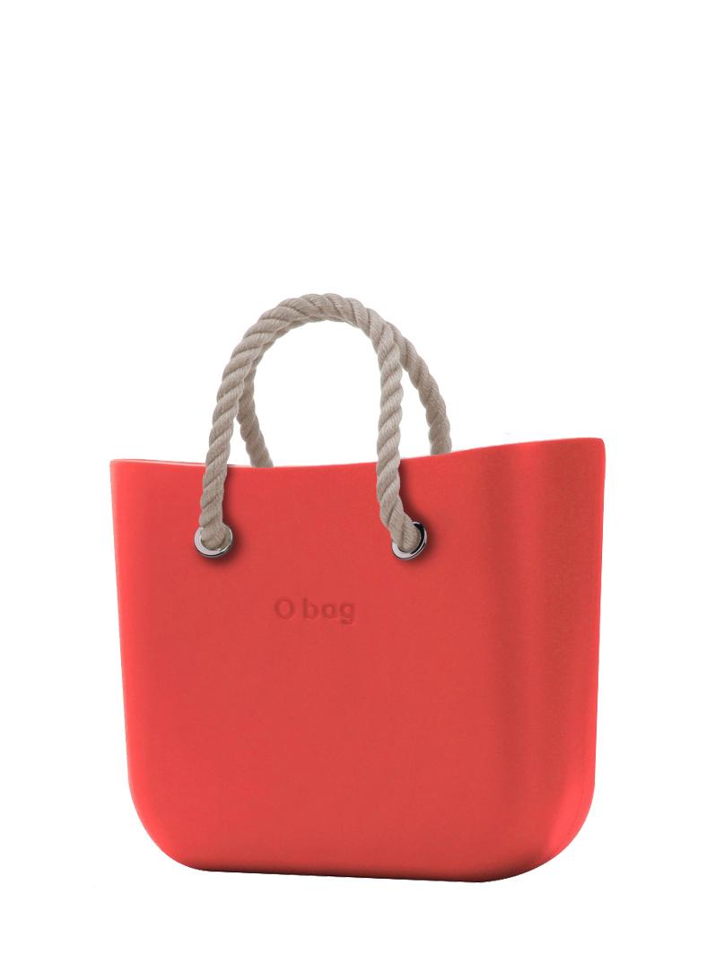 O bag  borsetta Fragola con corde corte natural