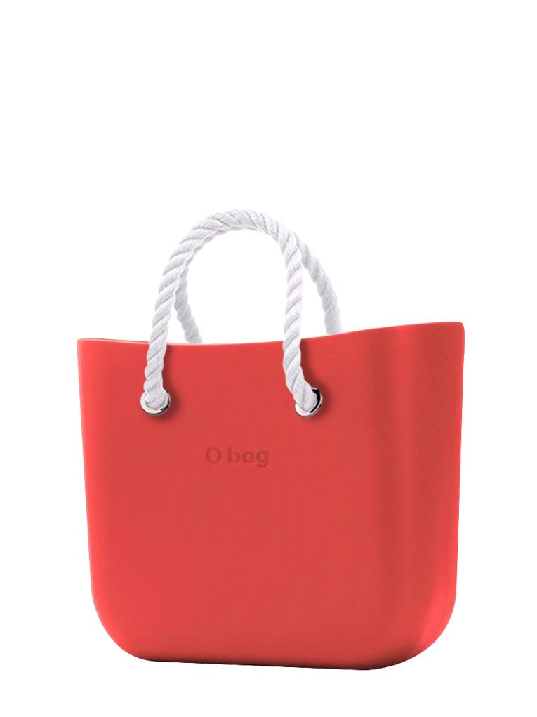 O bag  borsetta Fragola con corde corte bianco