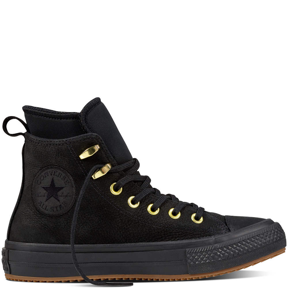 Sneakers Chuck Taylor Converse in pelle nera All Star Ctas WP Boot Hi Black