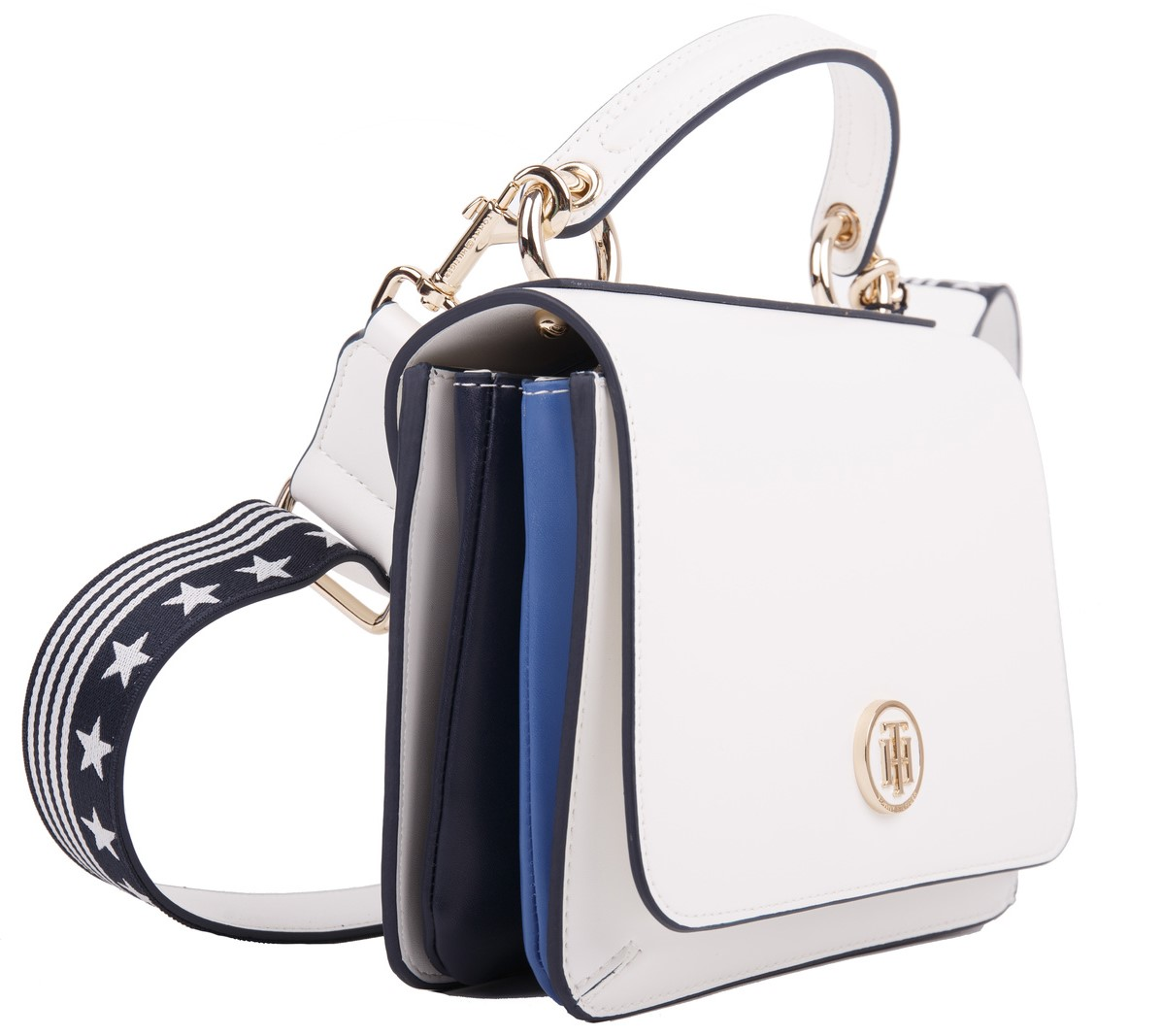 Tommy Hilfiger borsa bianca Youthful Heritage Flap Crossover