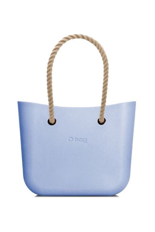 O bag  blu borsetta MINI Skyway con corde lunghe natural