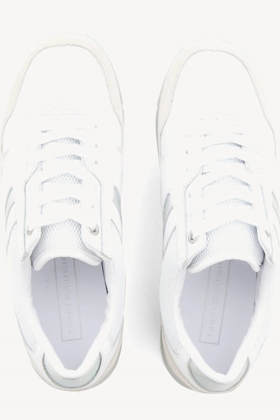Sneakers TOMMY HILFIGER Iridescent Light Sneaker FW0FW04100 WhiteSilver 902
