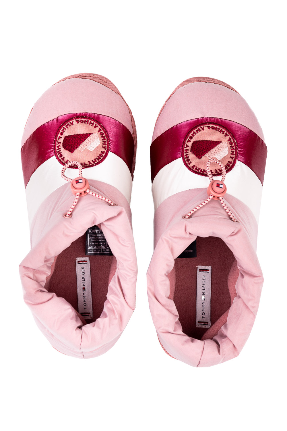 Tommy Hilfiger ciabatte a stivaletto Tommy Womens Downslipper Bootie Blush Pink cipria
