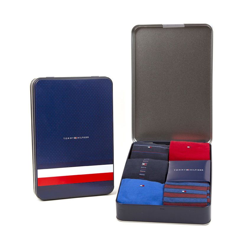 Tommy Hilfiger Pacco da 5 calzino TH Men Sharp Stripes Giftbox 5P