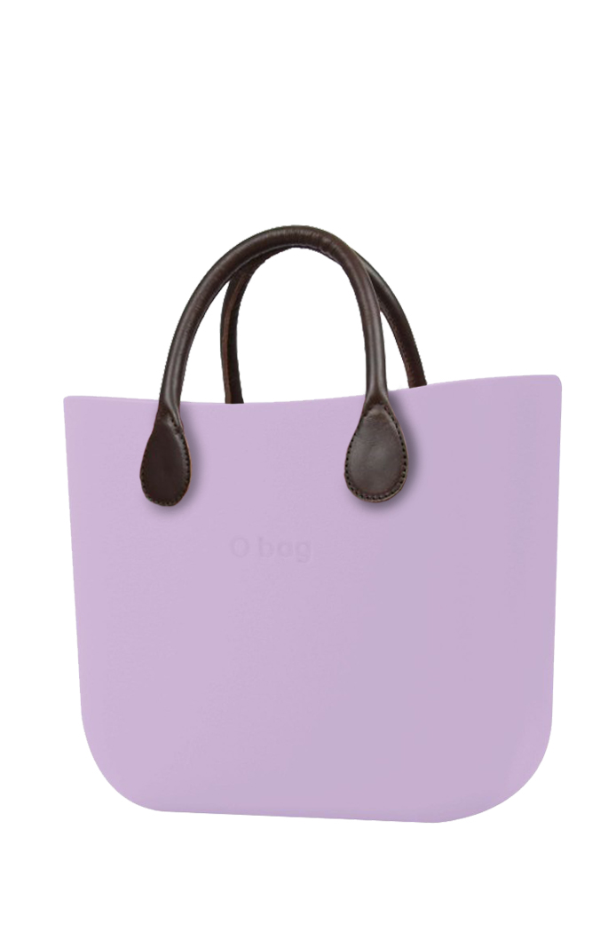 O bag  borsetta MINI Orchidea con manici in similpelle marrone