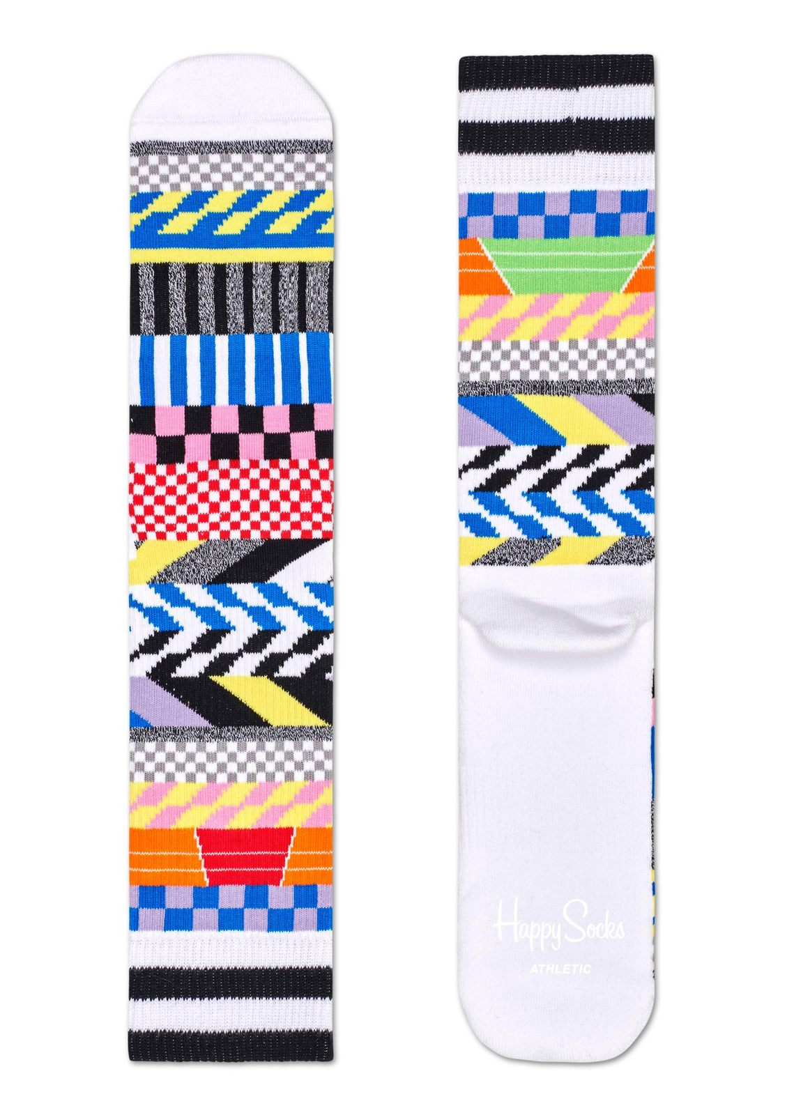 Happy Socks calzini Athletic Checked Stripe multicolore