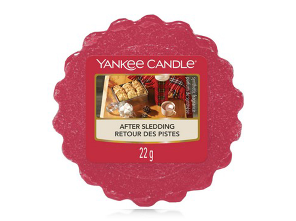 Yankee Candle rosso profumato cera per bruciatore After Sledding