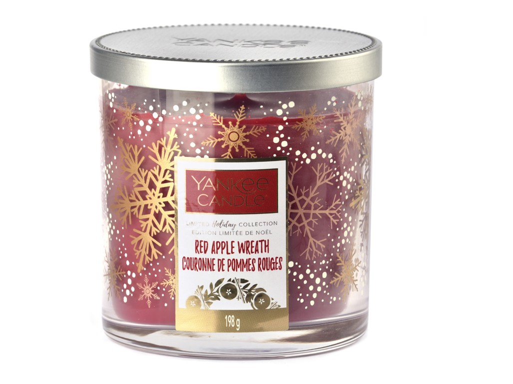 Yankee Candle profumata candela Red Apple Wreath Limited Décor malý