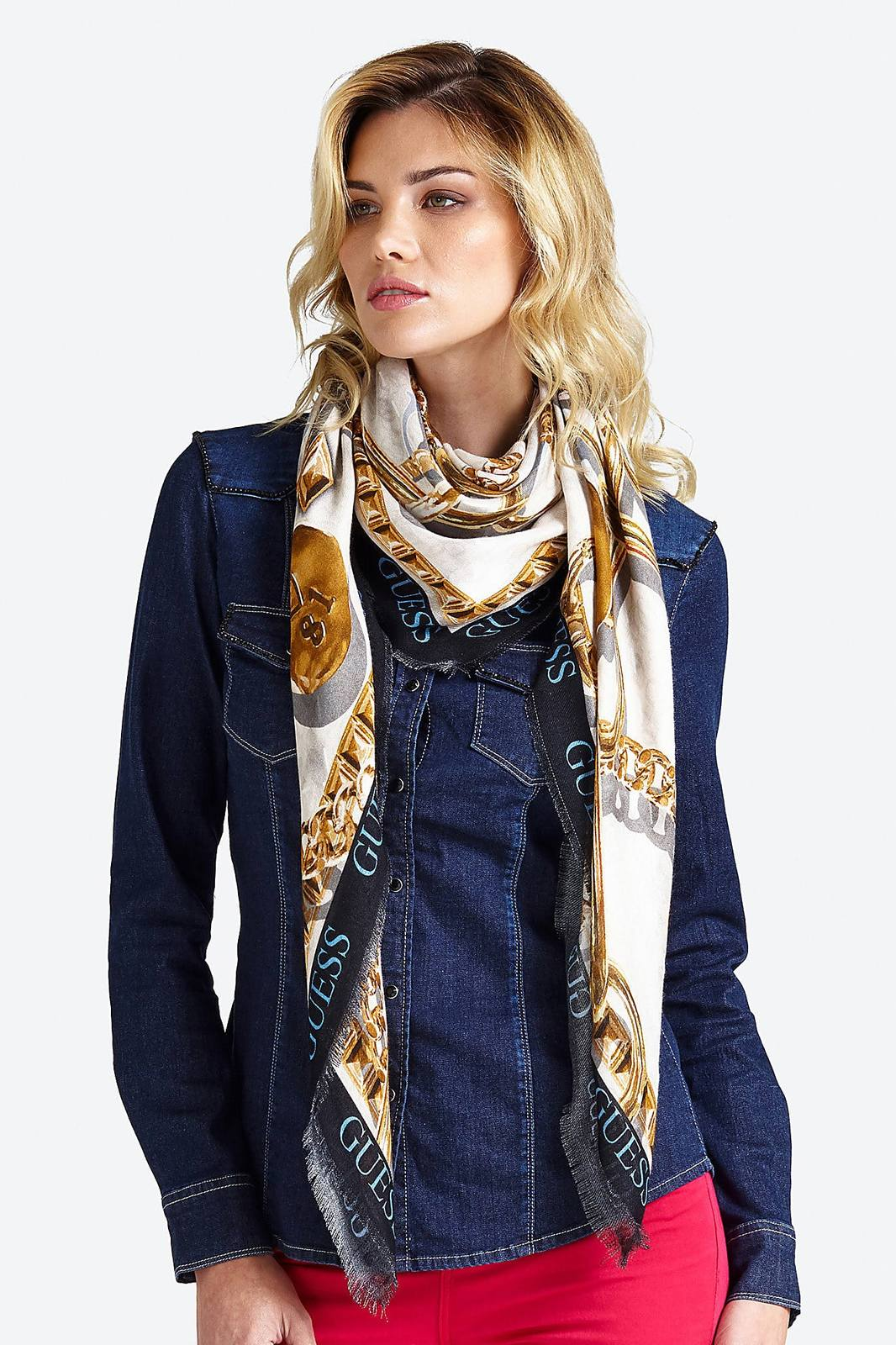 Guess multicolore da donna foulard Tiggy Chain