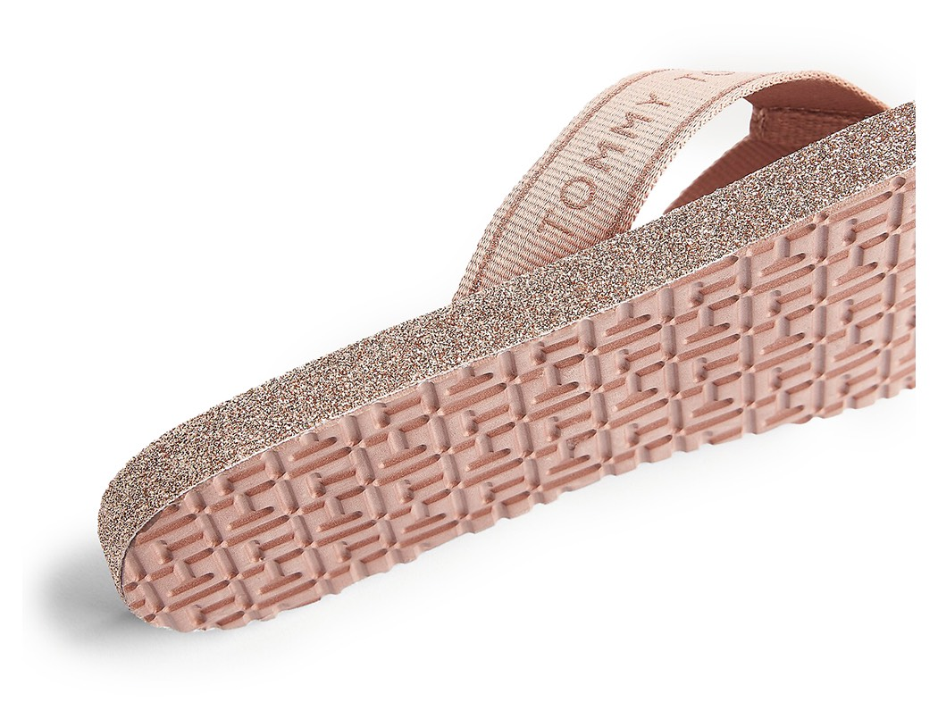 Tommy Hilfiger cipria infradito Tommy Glitter Flat Beach Sandal