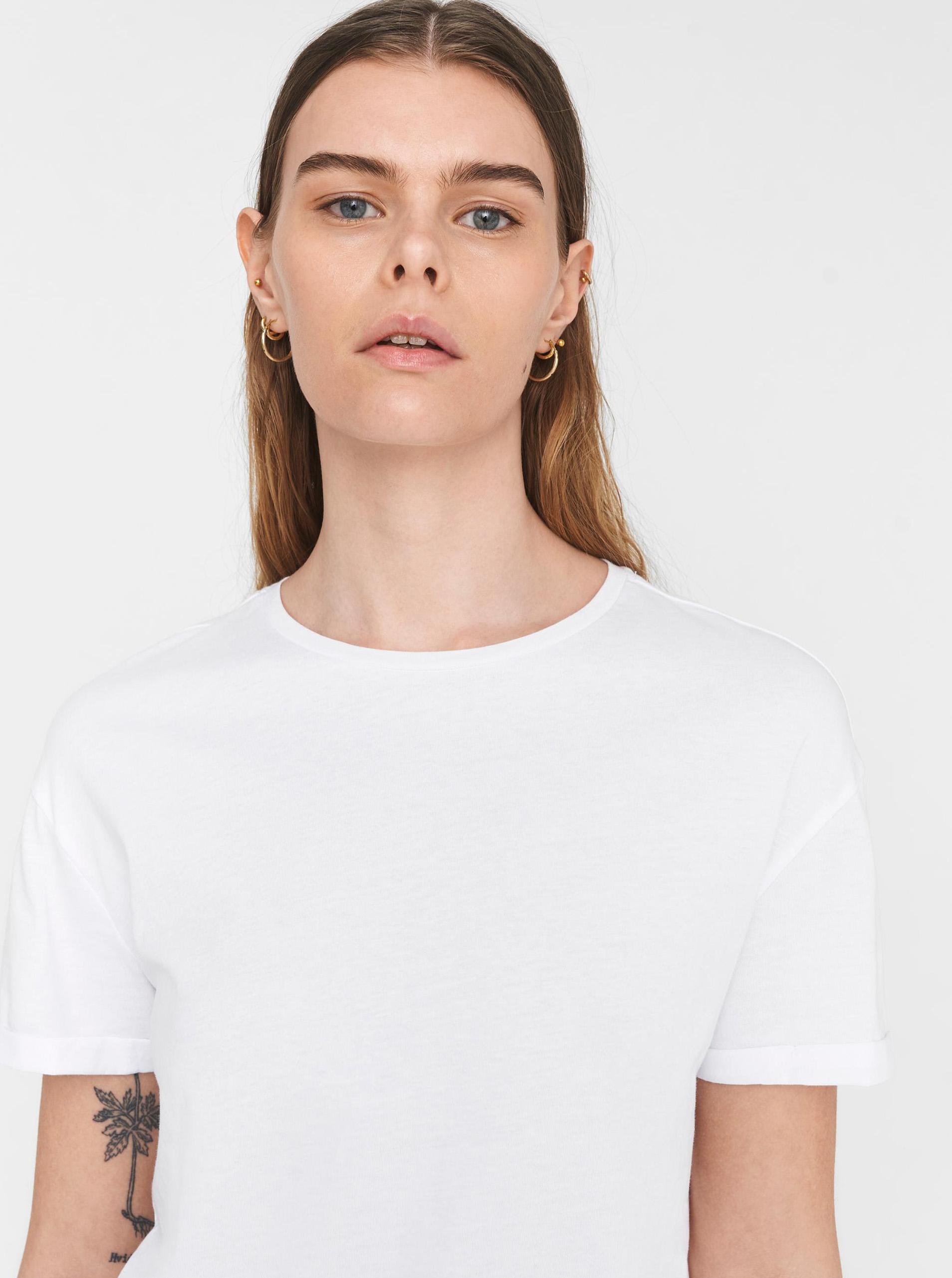 T-shirt basic bianca Noisy May Brandy