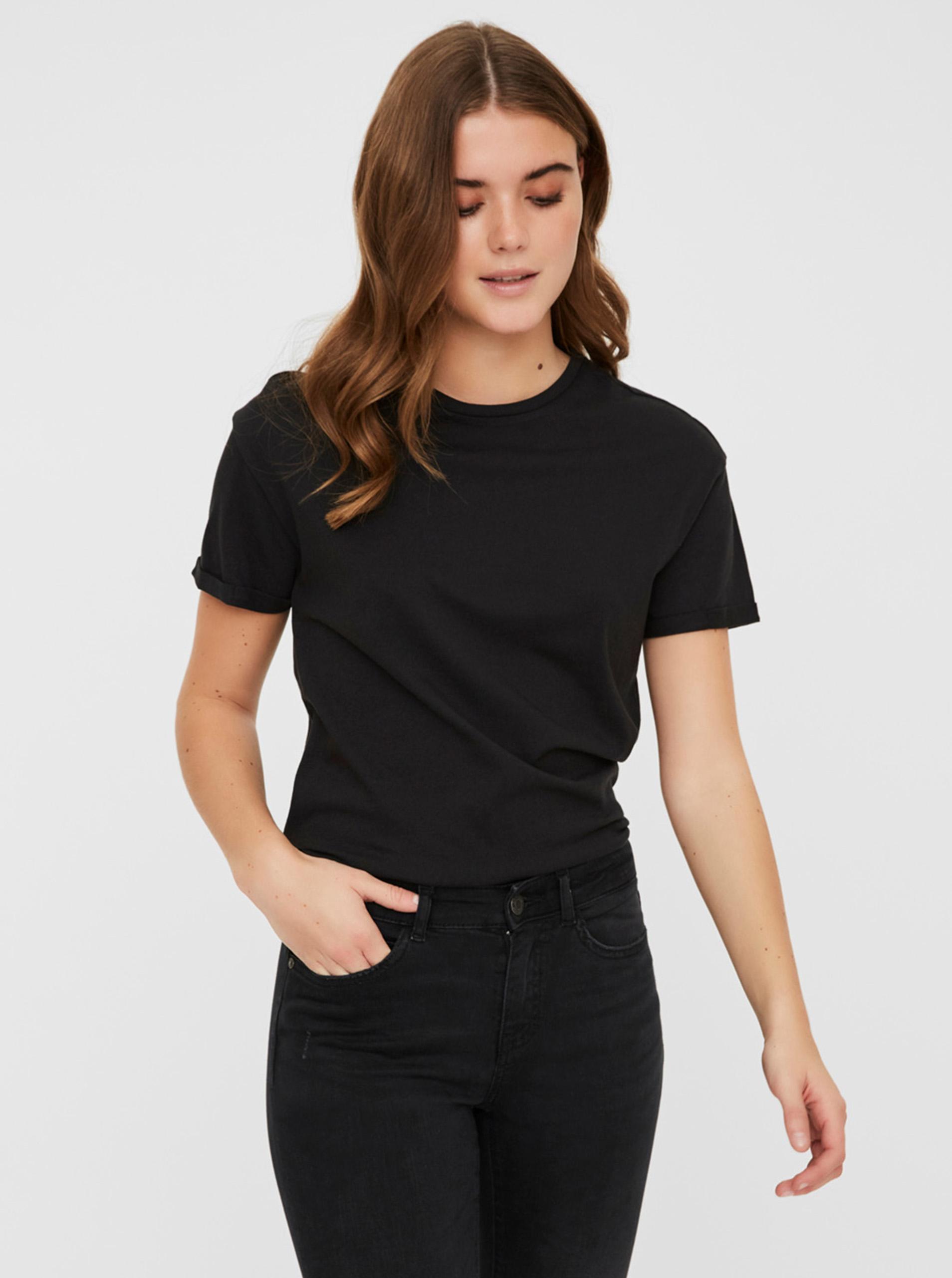 Maglietta basic nera Noisy May Brandy
