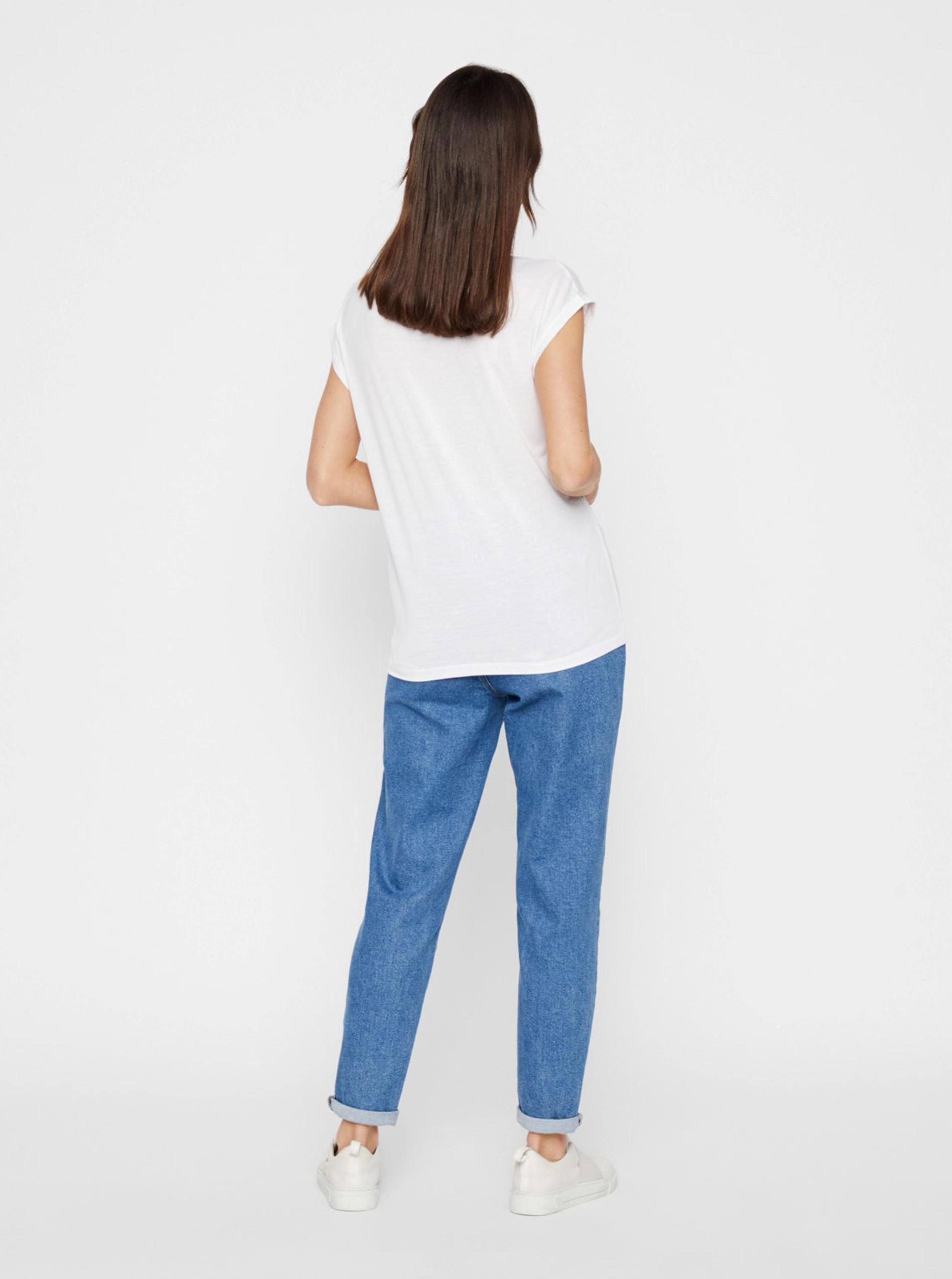 Pieces bianco maglietta Billo