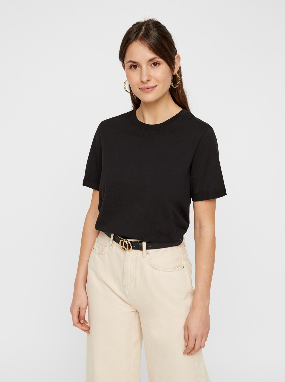 Maglietta basic nera Pezzi Ria