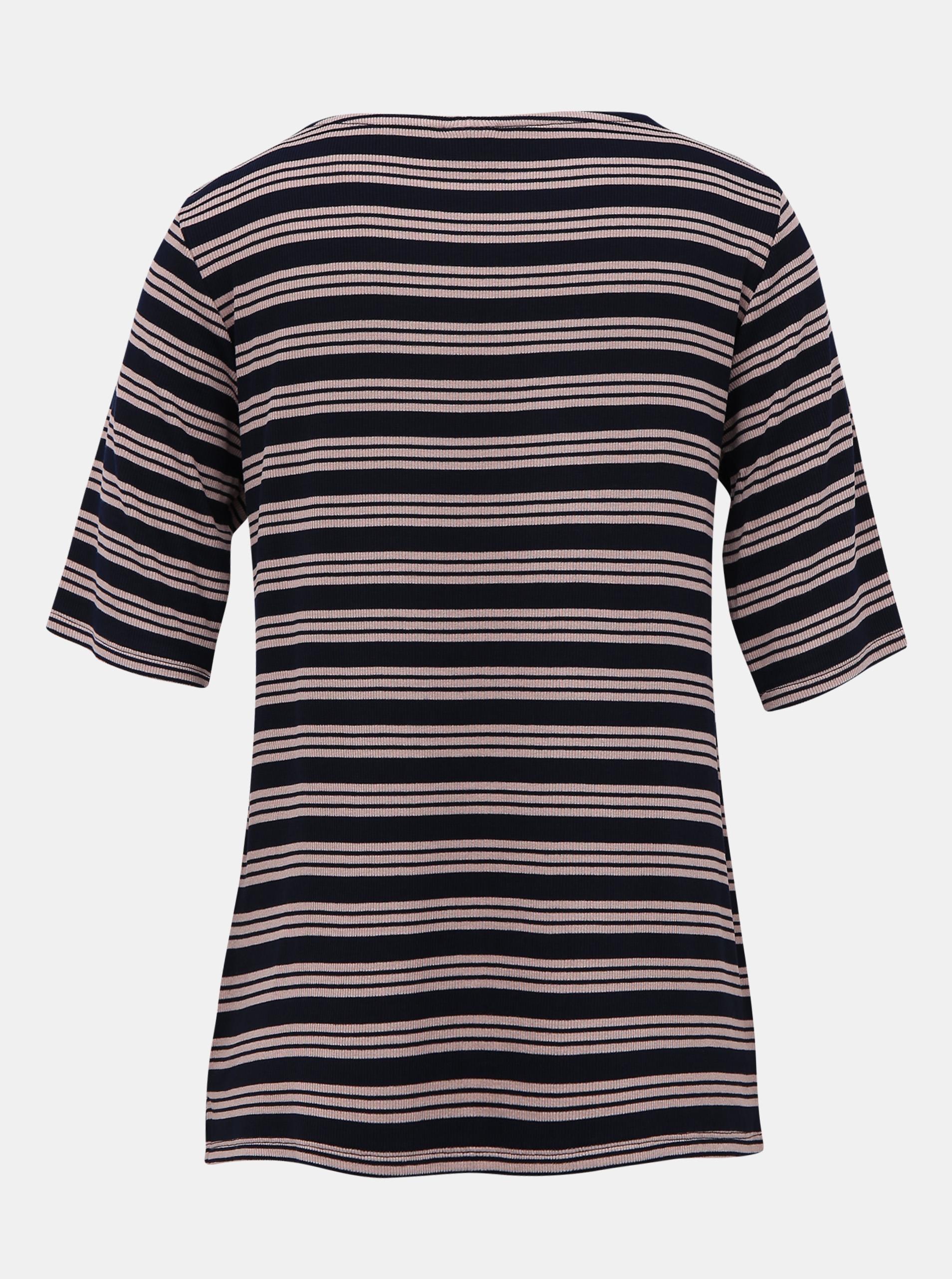 T-shirt a righe blu scuro di Jacqueline de Yong Camina