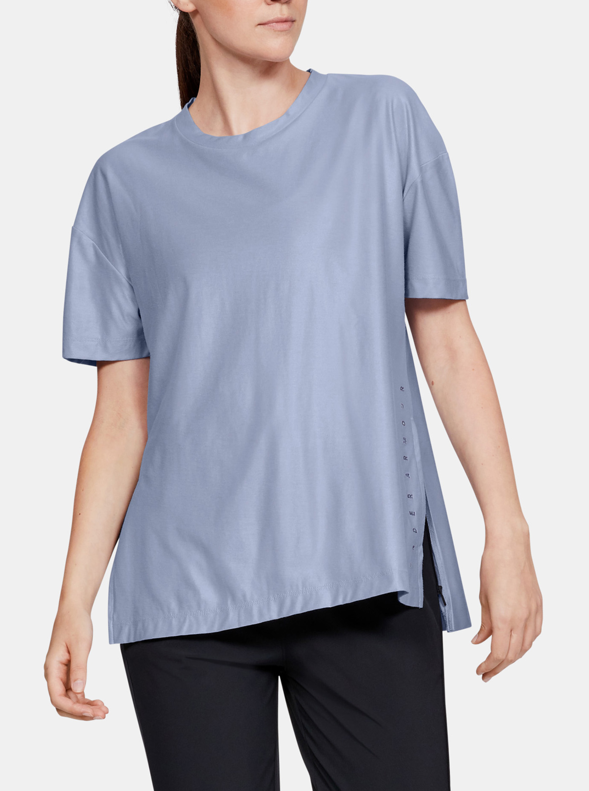 Maglietta polo Under Armour Unstoppable Cire Side Slit Tunic Ssc-Blu