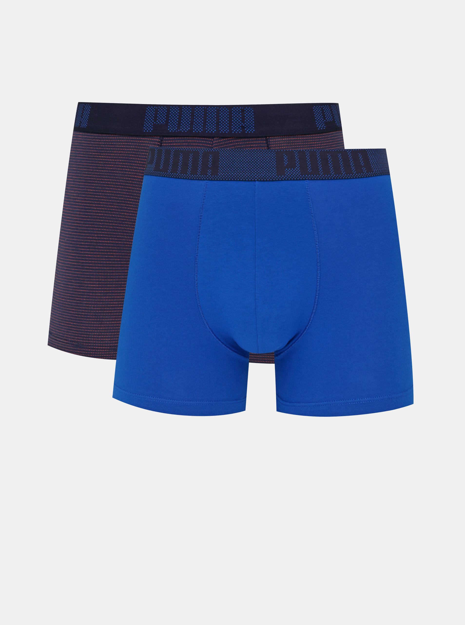 Set di due boxer Puma blu