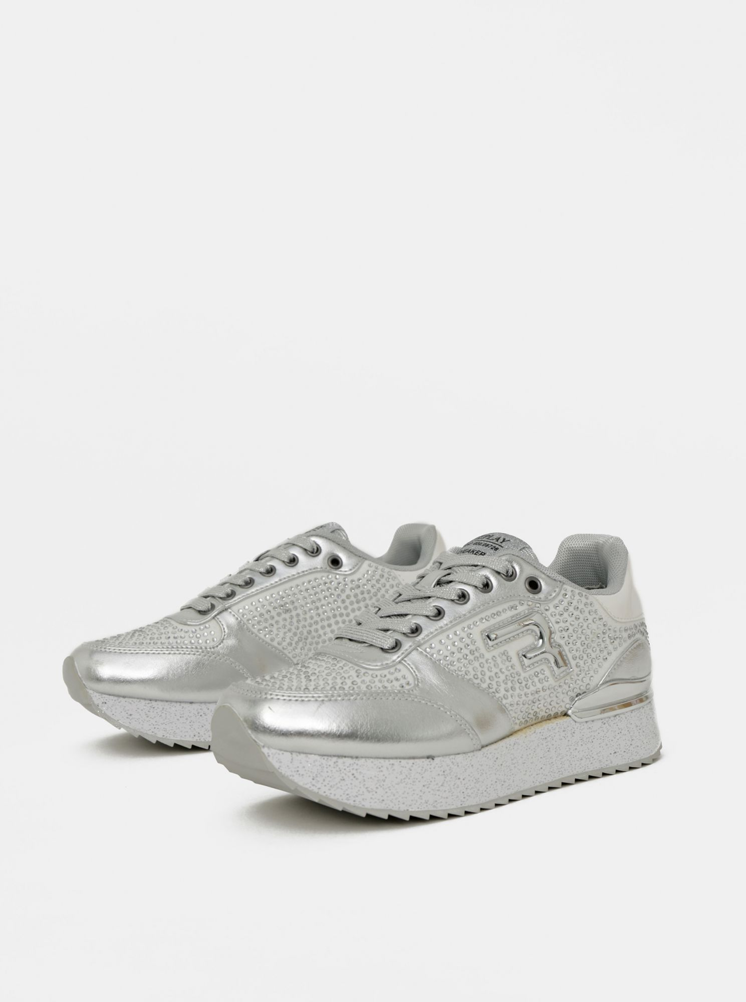 Sneakers da donna in Replay argento