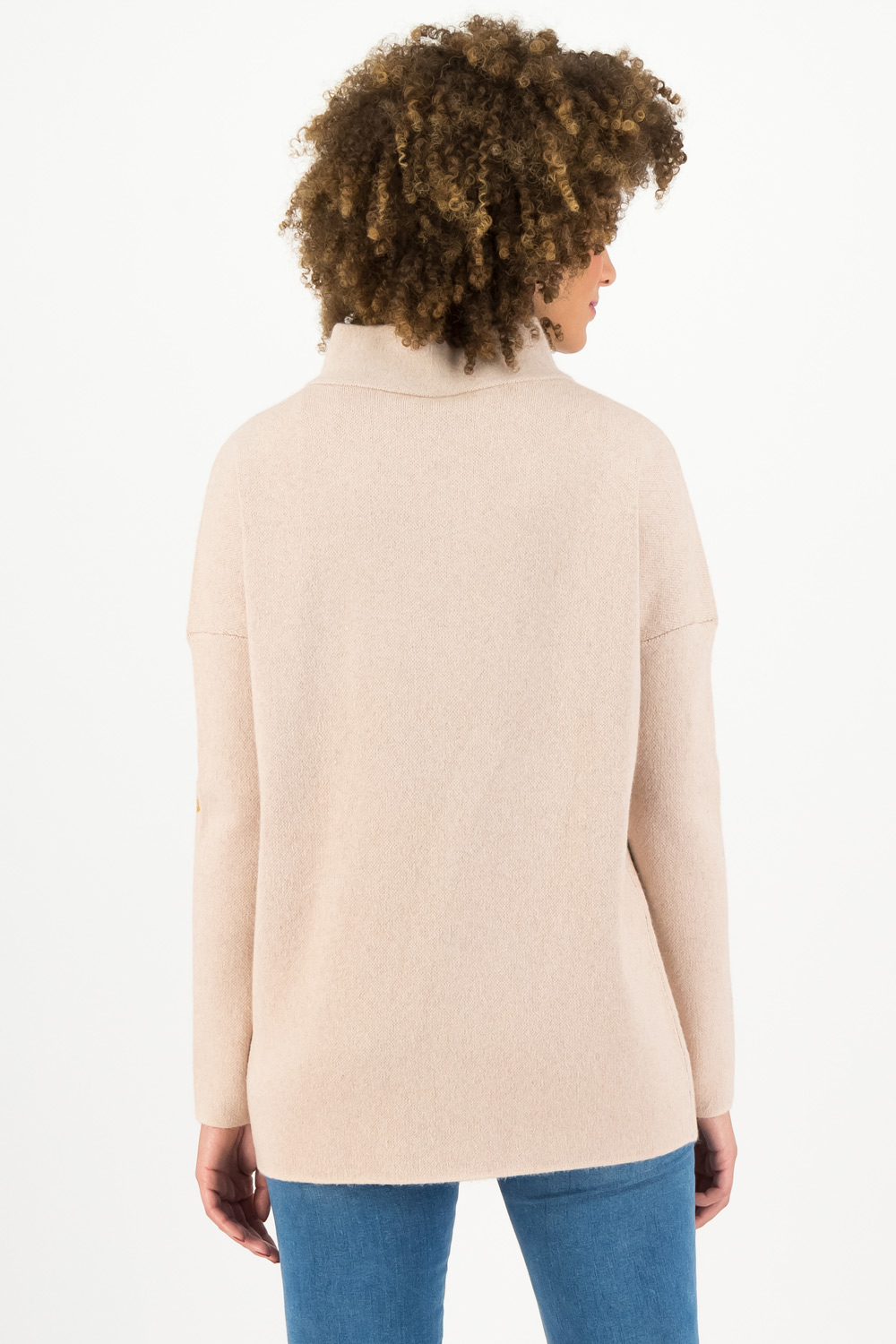 Blutsgeschwister beige maglione Reveal Roses