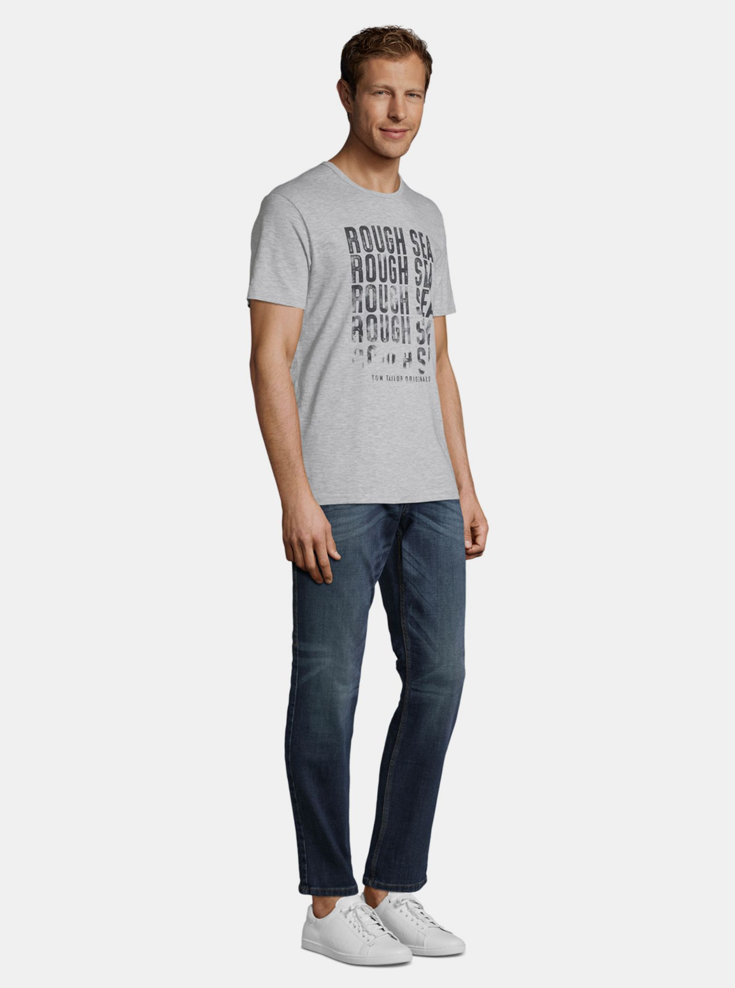 T-shirt grigia da uomo Tom Tailor